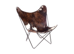 Manufakturplus - Butterfly Chair Hardoy - koeienhuid - 1