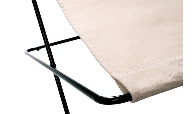 Manufakturplus - Fußteil für Hardoy Butterfly Chair - Stahlrahmen schwarz, Pure Cotton - 2