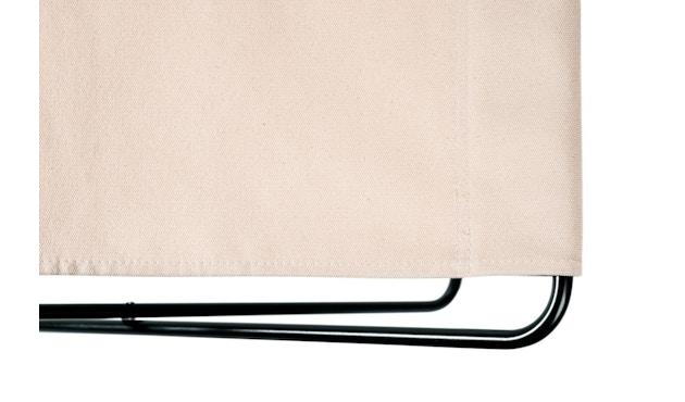 Manufakturplus - Fußteil für Hardoy Butterfly Chair - Stahlrahmen schwarz, Pure Cotton - 3
