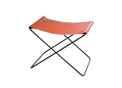 Manufakturplus - Repose-pied pour Hardoy Butterfly Chair  - Cuir brillant - 1