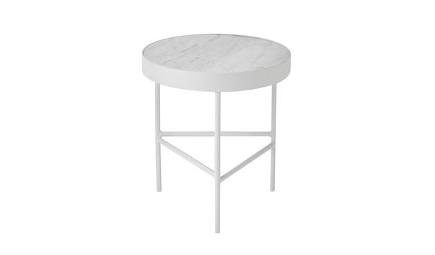 ferm LIVING - Marble Tisch - weiß - 1