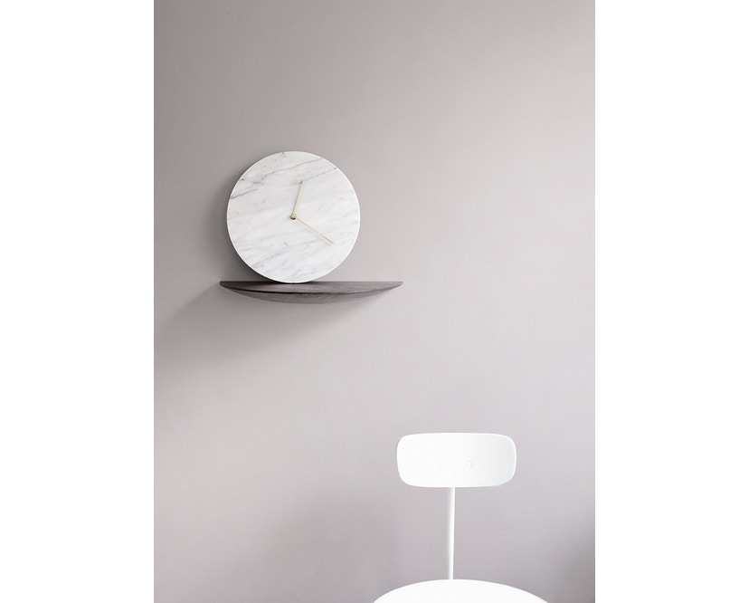 Menu - Marble Wall Clock Wanduhr - weiß - 2