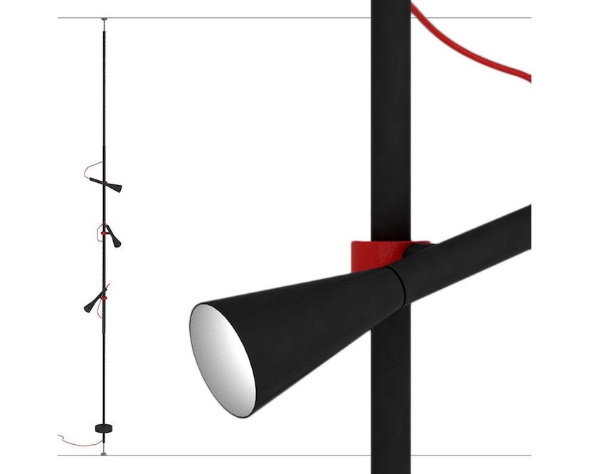 Martinelli Luce - Colibrì Stehleuchte mit Spotlights - schwarz oxidiert - 2