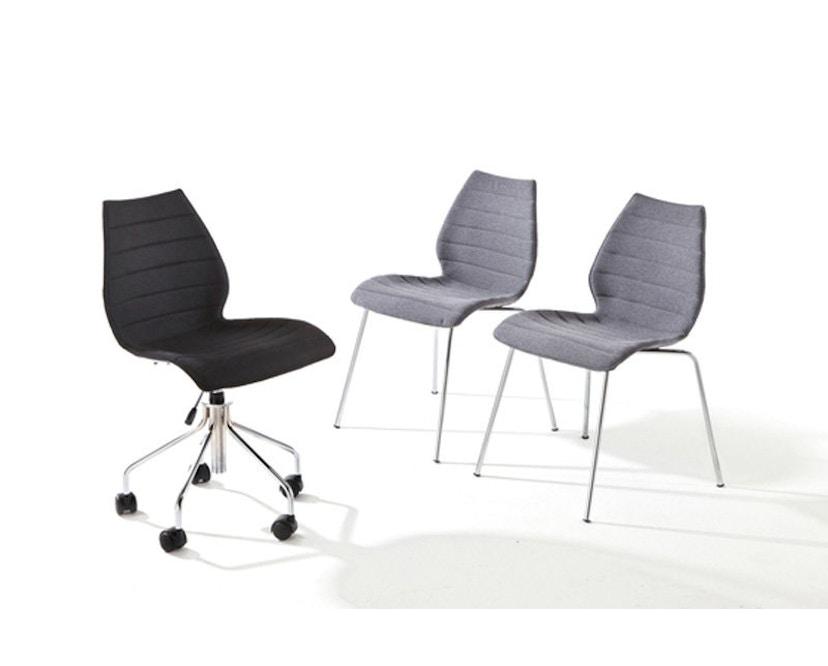 Kartell - Maui Soft stoel - Trevira rood - 17