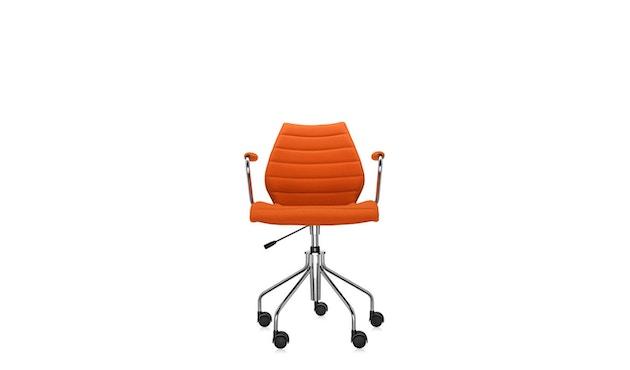Kartell - Maui Soft draaistoel - Trevira oranje - 10