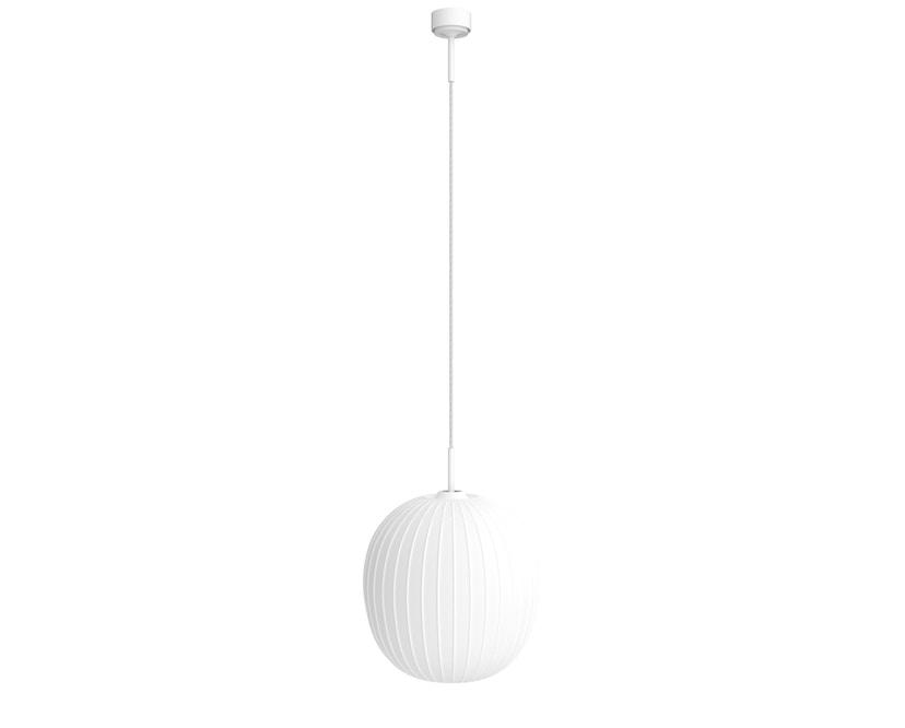 Mawa Design - Bologna Pendelleuchte - weißer Baldachin - ohne Details - schwarzers Kabel - 1