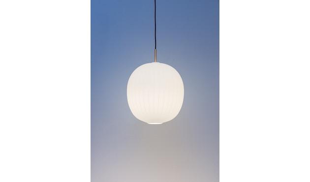 Mawa Design - Bologna Pendelleuchte - schwarzer Baldachin - ohne Details - blaues Kabel - 3