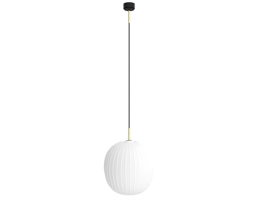 Mawa Design - Bologna Pendelleuchte - schwarzer Baldachin - ohne Details - blaues Kabel - 1