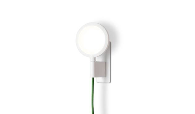 Mawa Design - Maggy Wandleuchte - pulverbesch. weiß matt - Textilkabel grün - 2