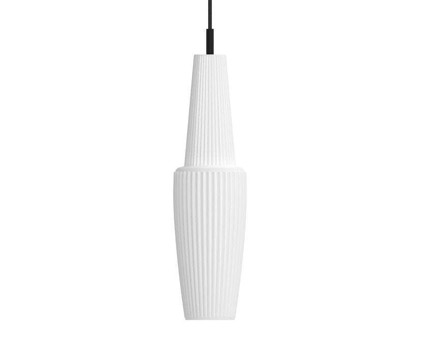 Mawa Design - Pisa Pendelleuchte - weißes Glas - schwarzer Baldachin - ohne Details - blaues Kabel - 2