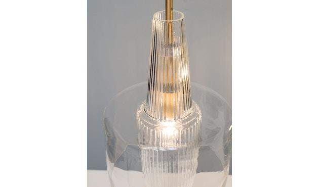 Mawa Design - Venezia Pendelleuchte - transparentes Glas - schwarzer Baldachin - ohne Details - blaues Kabel - 4