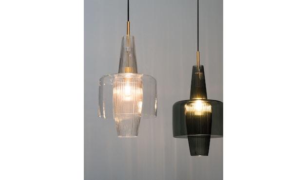 Mawa Design - Venezia Pendelleuchte - transparentes Glas - schwarzer Baldachin - ohne Details - blaues Kabel - 3