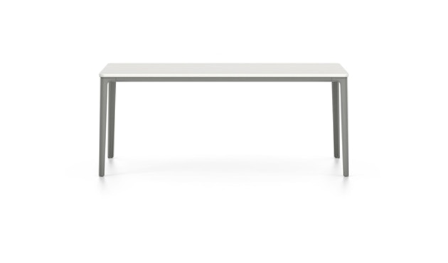 Vitra - Plate Esstisch - Gestell erdgrau pulverbeschichtet - Tischplatte MDF pulverbeschichtet weiß - 160 x 80 cm - 9