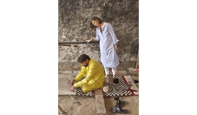 Nanimarquina - Mélange Pattern 4 Teppich - mehrfarbig - 80 x 140 - 3
