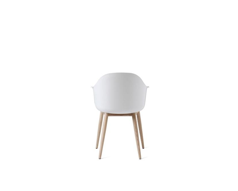 Menu - Harbour Stuhl mit Holzsockel - Eiche/weiß - 1