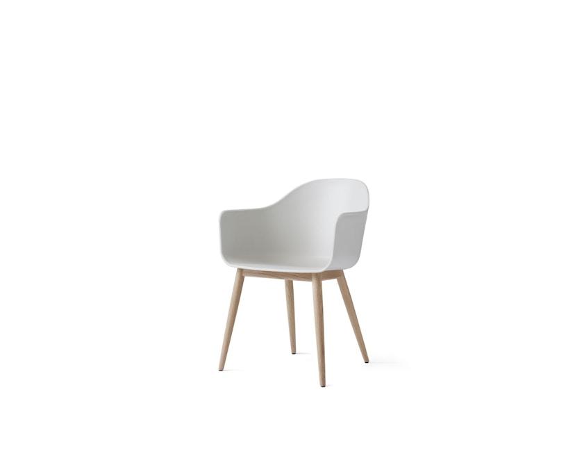 Menu - Harbour Stuhl mit Holzsockel - Eiche/weiß - 2