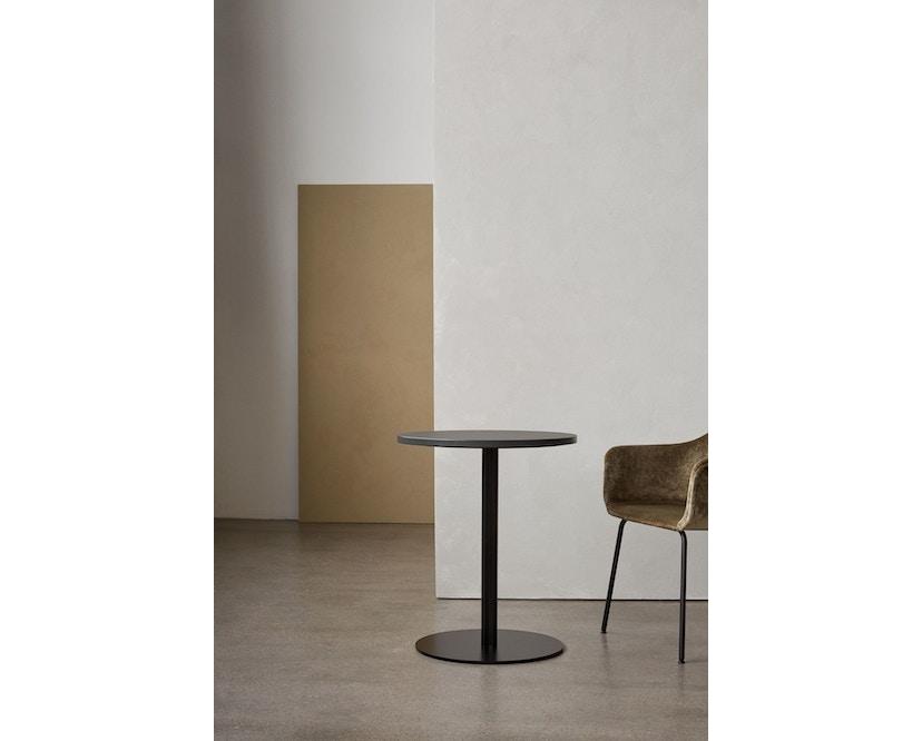 Menu - Harbour Column Counter Table Ø80cm, Höhe 92,7cm - Charcoal Linoleum - 3