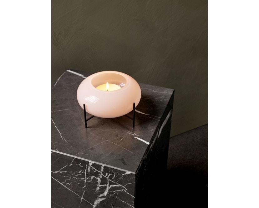 Menu - Échasse Hurricane Teelichthalter - Opal/Bronzed Brass - 7