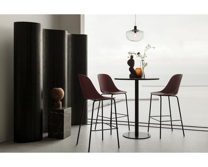 Menu - Harbour Column Counter/Bar Table Ø60cm - Charcoal Linoleum - 92,7cm - 2