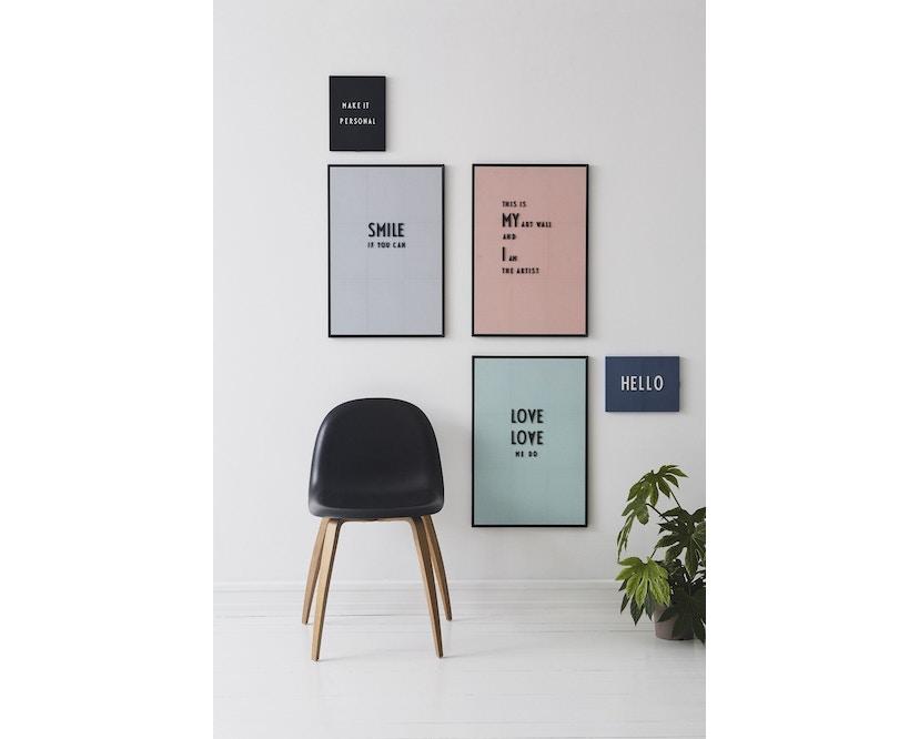 DESIGN LETTERS - Message Tafel - A4 - dunkelgrau - 11