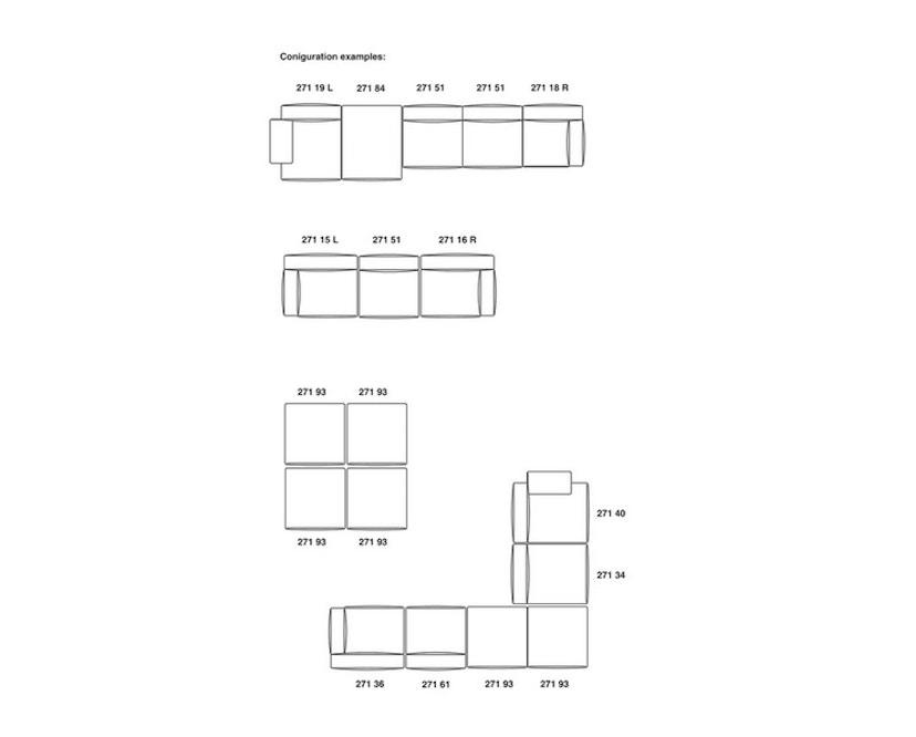 Cassina - 271 Mex Cube Sofa - beige meliert - 13