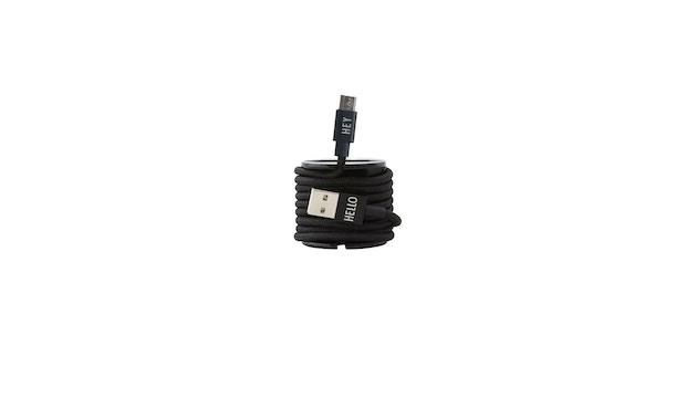 DESIGN LETTERS - HEY Ladekabel - Micro USB - schwarz - 4