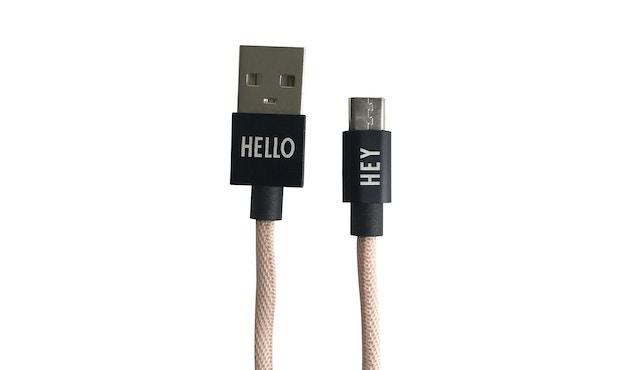 DESIGN LETTERS - HEY Ladekabel - Micro USB - nude - 0