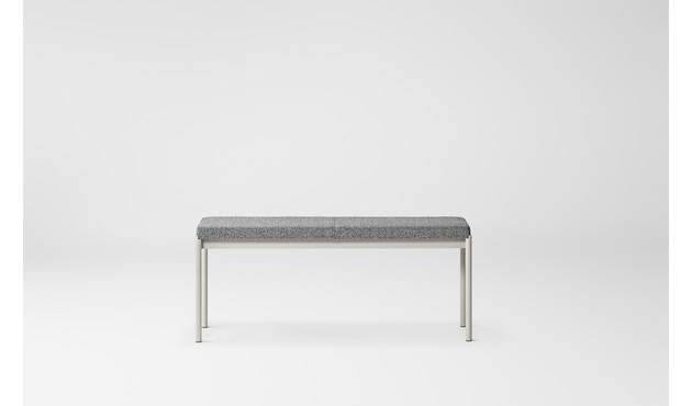 Million - Mies Bench, L110, Gestell grau - Textile grey, Skye 151 Kvadrat - 2