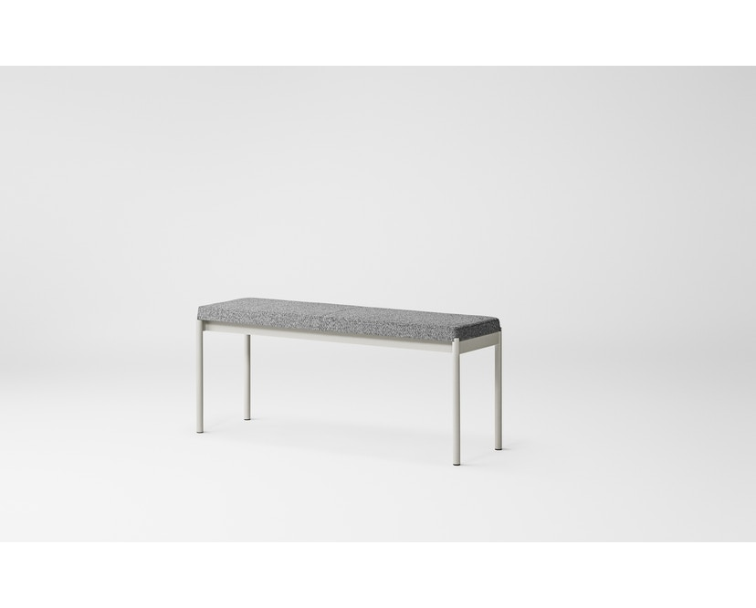 Million - Mies Bench, L110, Gestell grau - Textile grey, Skye 151 Kvadrat - 3