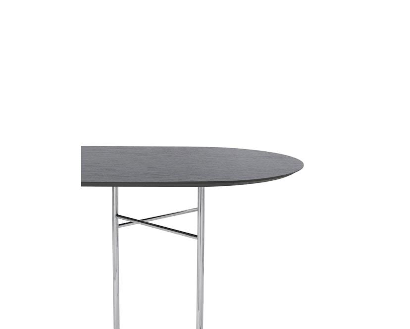 ferm LIVING - Mingle Tischplatte oval - schwarz furniert - 220 cm - 1