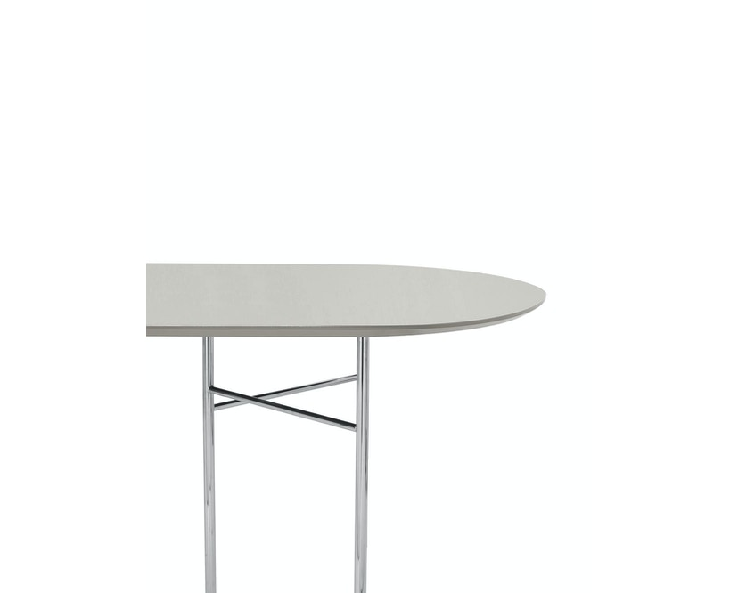 ferm LIVING - Plateau de table Mingle- Oval - 220 cm - gris clair - 1