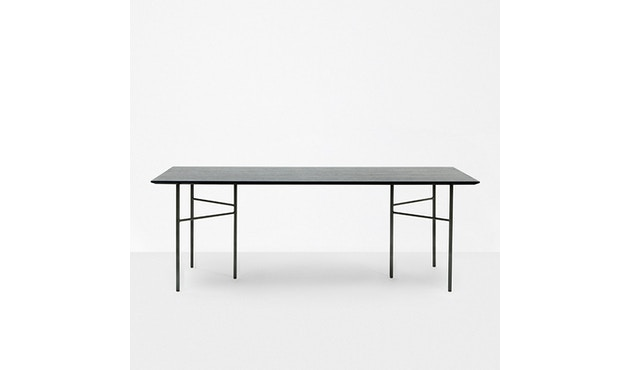 ferm LIVING - Mingle Tischplatte - Furnier schwarz - 160 cm x 90 cm - 2