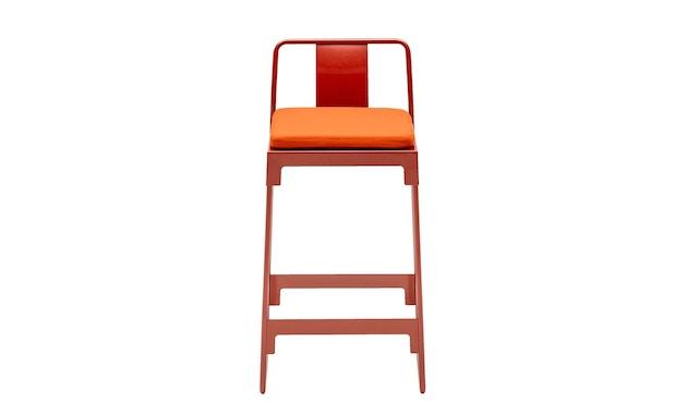 Driade - MINGX Outdoor Barhocker niedrig mit Rückenlehne  - orange - 1