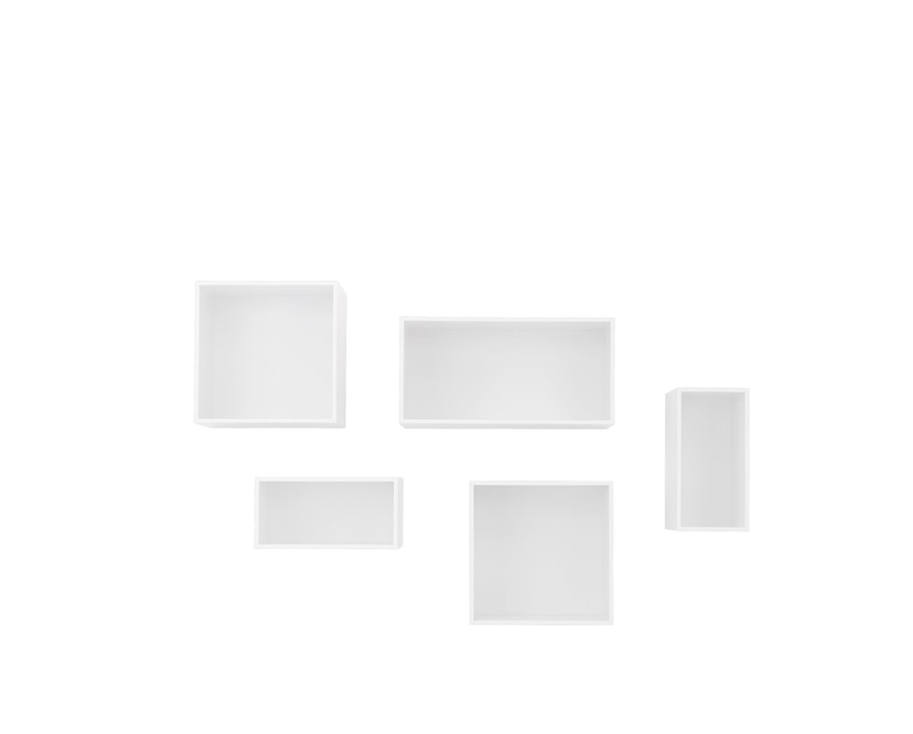 Muuto - Mini Stacked 2.0 - Element groß - weiß mit Rückwand - 2