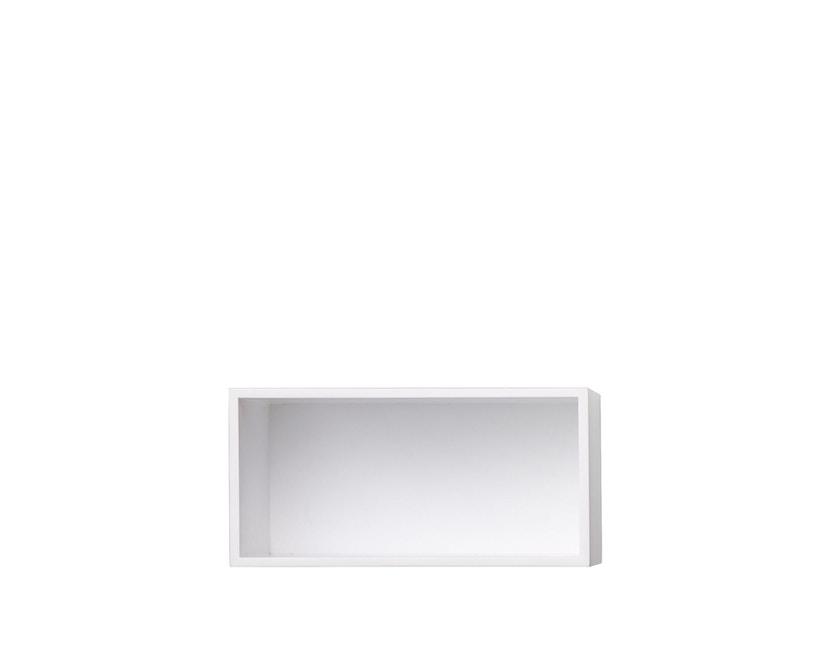 Muuto - Mini Stacked 2.0 - Element klein - weiß mit Rückwand - 1
