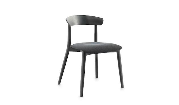 Conmoto - MITO Stuhl mit Sitzpolsterung  - Polster hellgrau - Esche natur - 1