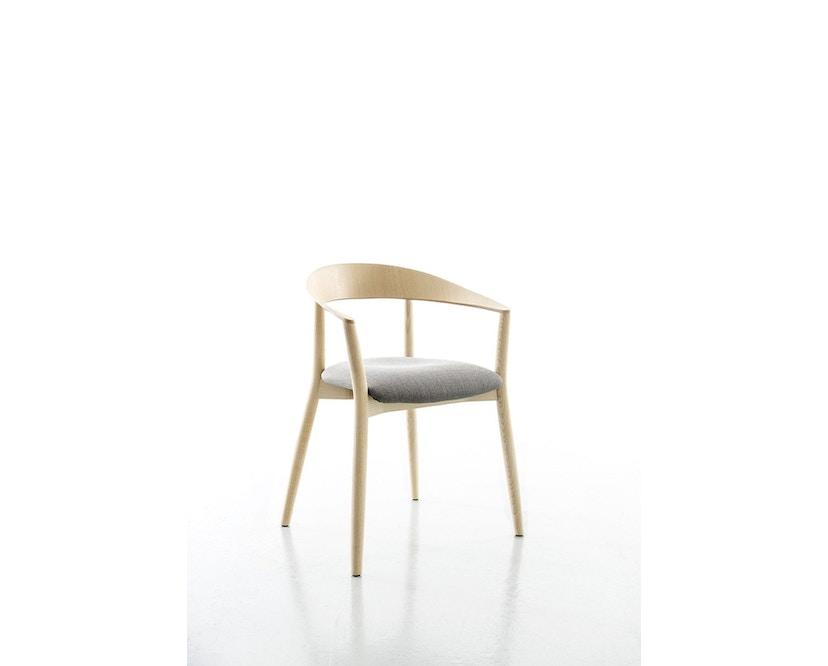Conmoto - MITO Armlehnstuhl mit Sitzpolsterung  - Polster hellgrau - Esche natur - 1