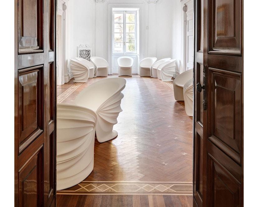 Driade - Modesty Veiled Outdoor Armlehnstuhl - weiß - 3