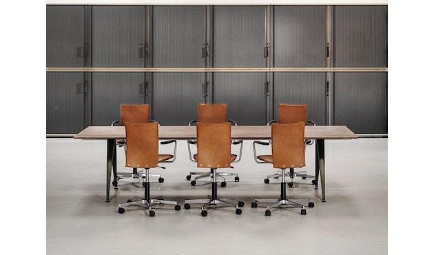 Randers + Radius - GRIP Basic tafel - 239 - 80 cm - wit - Zonder stekkerdoos - zwart - 27