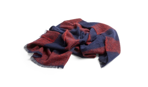 HAY - Mohair Decke - red - 1