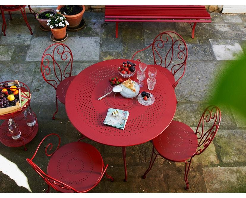 Fermob - MONTMARTRE Tisch Ø 96 cm - 02 Zederngrün - 6