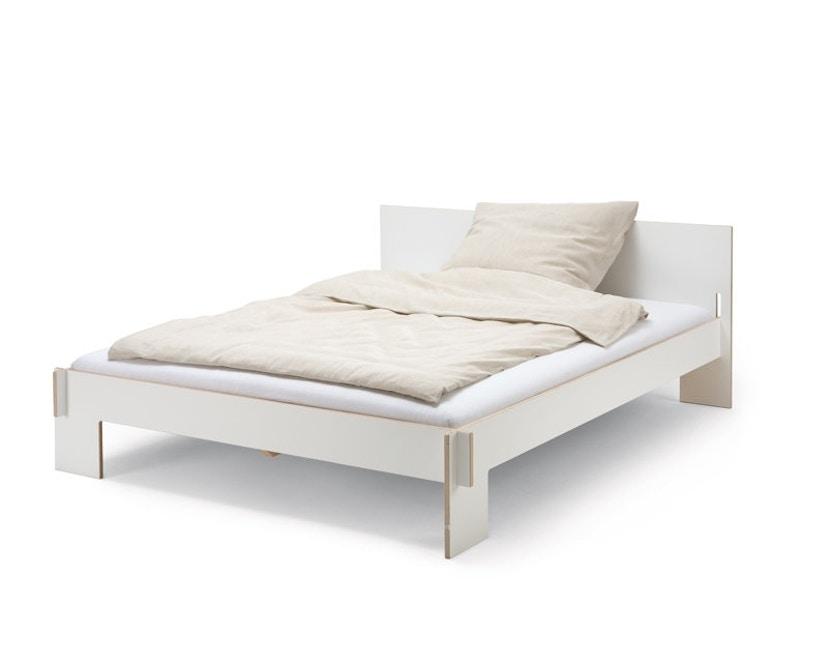 Moormann - Siebenschläfer Bett mit Kopfteil - 90 x 200 cm - weiß - 1