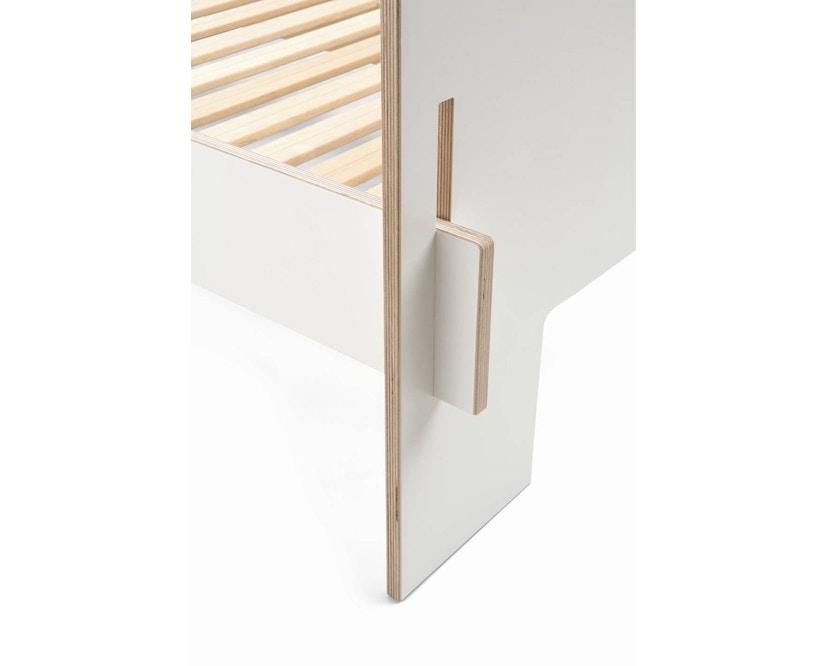 Moormann - Siebenschläfer Bett mit Kopfteil - 90 x 200 cm - weiß - 3