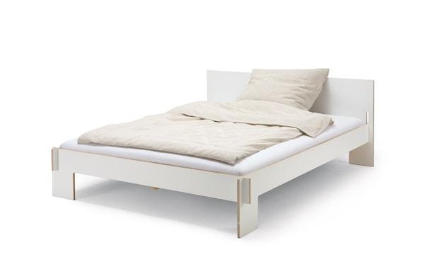 Moormann - Siebenschläfer Bett mit Kopfteil - 160 x 200 cm - weiß - 1