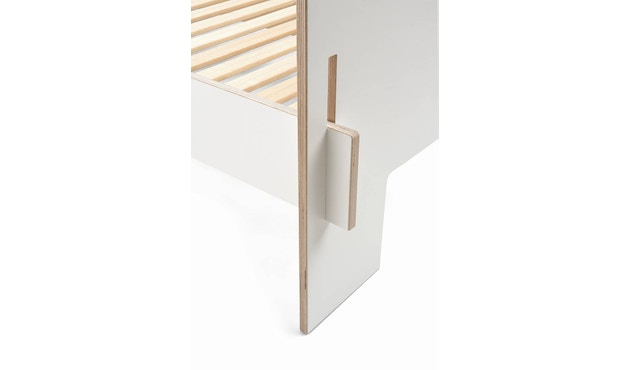 Moormann - Siebenschläfer Bett mit Kopfteil - 160 x 200 cm - weiß - 4