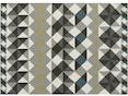 Gan - Mosaïek Teppich – 170 x 240 cm - grau - 1