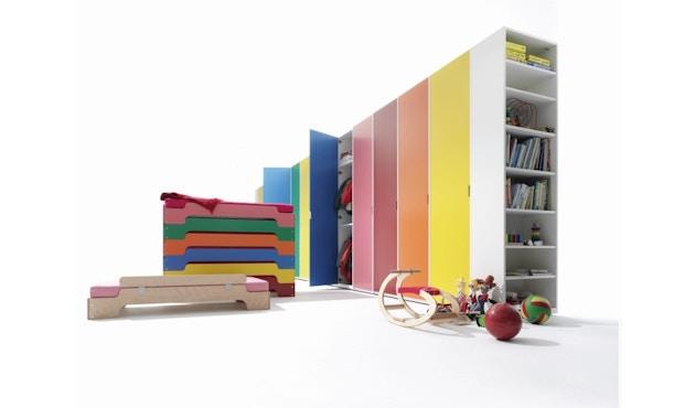 Müller Möbelwerkstätten - Stapelliege für Kinder - CPL weiß & Birkenschichtholzkante - 6