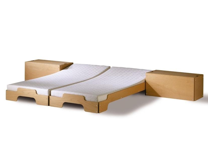 Müller Möbelwerkstätten - Stapelbed Comfort - 90 x 190 cm - Beuk natuur, gelakt - 3