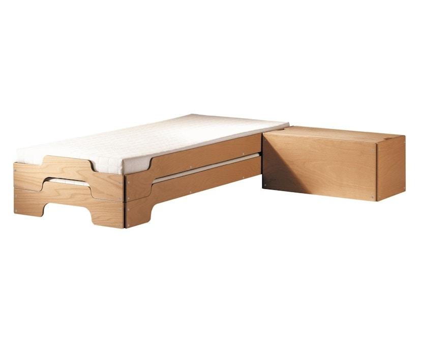 Müller Möbelwerkstätten - Stapelbed Comfort - 90 x 190 cm - Beuk natuur, gelakt - 6