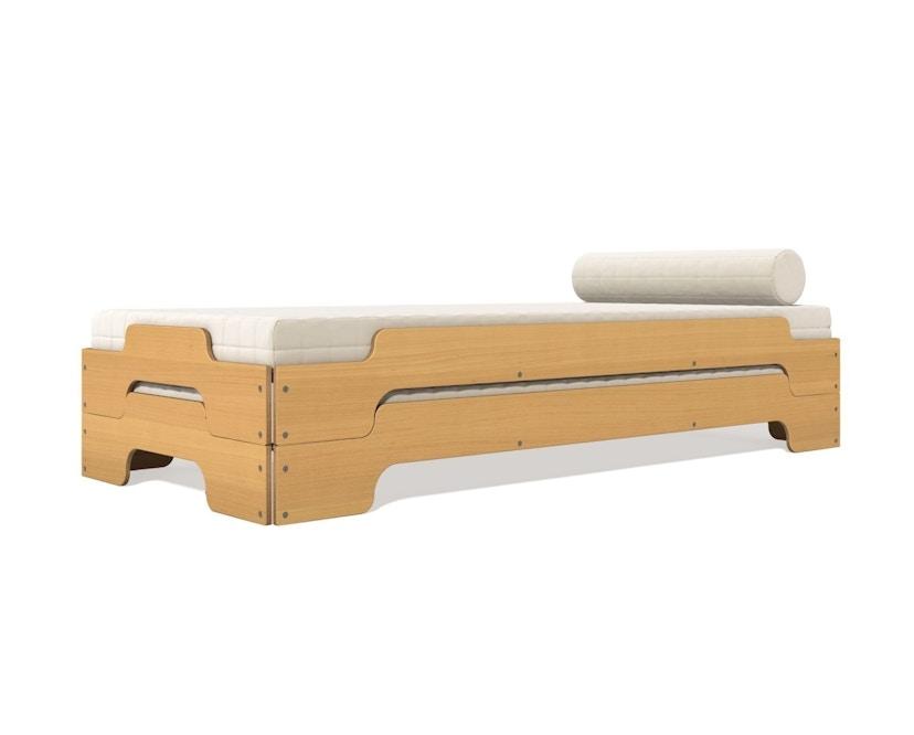 Müller Möbelwerkstätten - Stapelbed Comfort - 90 x 190 cm - Beuk natuur, gelakt - 1